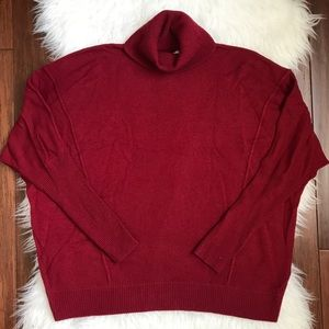 Autumn Cashmere Red Cashmere Dolman Sleeve Sweater